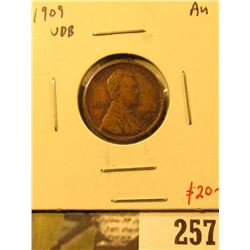 1909 VDB Lincoln Cent, AU, value $20