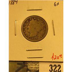 1884 V Nickel, G+, value $20
