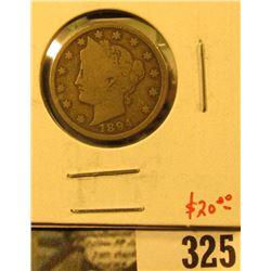 1894 V Nickel, G+, value $20