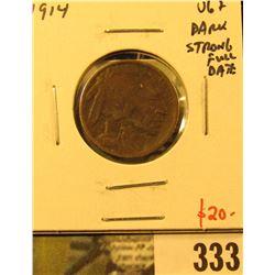 1914 Buffalo Nickel, VG+ dark, strong full date, value $20