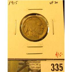 1915 Buffalo Nickel, VF20, value $15