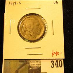 1917-S Buffalo Nickel, VG, value $40