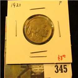 1921 Buffalo Nickel, F, value $8