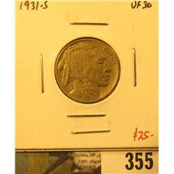 1931-S Buffalo Nickel, VF30, value $25