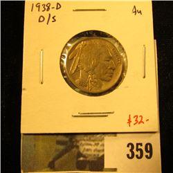 1938-D D/S variety AU, value $32