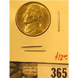 1943-D Jefferson Nickel, BU, value $12