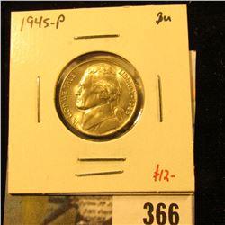 1945-P Jefferson Nickel, BU, value $12