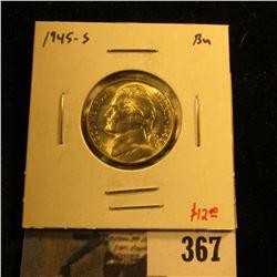 1945-D Jefferson Nickel, BU, value $12