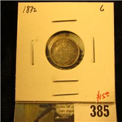 1872 Seated Liberty Half Dime, G, value $16