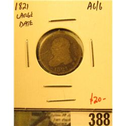 1821 Bust Dime, Large Date, AG/G, value $20