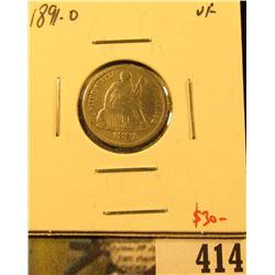 1891-O Seated Liberty Dime, VF, value $30
