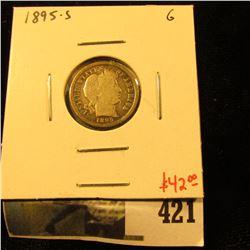 1895-S Barber Dime, G, value $42