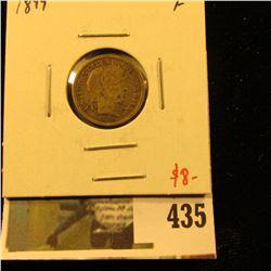 1899 Barber Dime, F, value $8