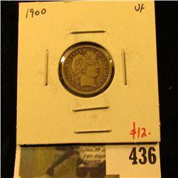 1900 Barber Dime, VF, value $12