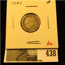 1901 Barber Dime, VF, value $10