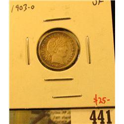1903-O Barber Dime, VF, value $25