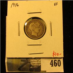 1916 Barber Dime, VF, value $10