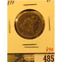 1877 Seated Liberty Quarter, VF, value $40