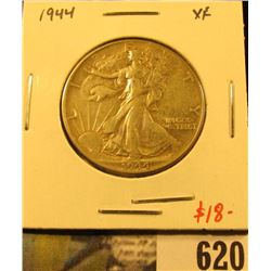 1944 Walking Liberty Half Dollar, XF, value $18