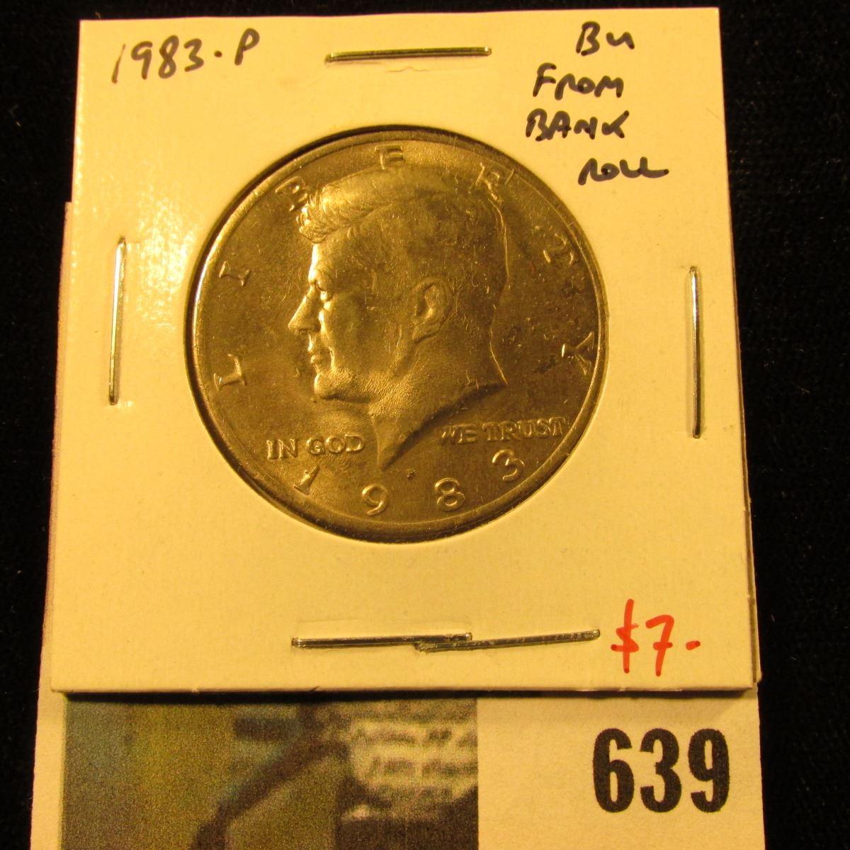 1983 P Kennedy Half Dollar from Bank Roll