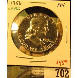 1956 Silver PROOF Franklin Half Dollar, value $45