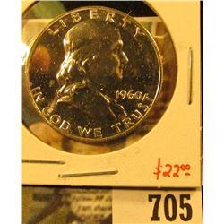 1960 Silver PROOF Franklin Half Dollar, value $22