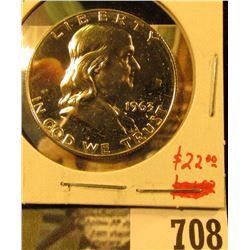 1963 Silver PROOF Franklin Half Dollar, value $22