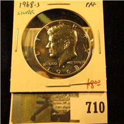 1968-S Silver PROOF Kennedy Half Dollar, value $8