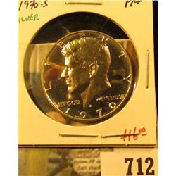 1970-S Silver PROOF Kennedy Half Dollar, value $16