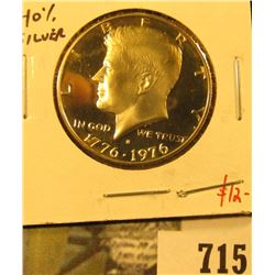 1976-S Silver PROOF Kennedy Half Dollar, value $12