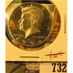 1994-S Silver PROOF Kennedy Half Dollar, value $30