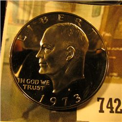 1973-S PROOF Eisenhower Dollar, value $14