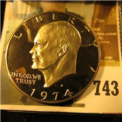 1974-S PROOF Eisenhower Dollar, value $7