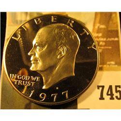 1977-S PROOF Eisenhower Dollar, value $5