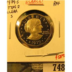 1979-S Type 2 PROOF Susan B. Anthony Dollar, SCARCE, value $50