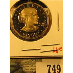 1980-S PROOF Susan B. Anthony Dollar, value $6