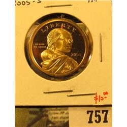 2005-S PROOF Sacagawea Dollar, value $10