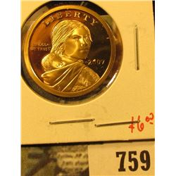 2007-S PROOF Sacagawea Dollar, value $6