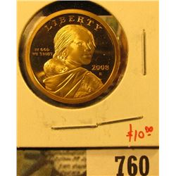 2008-S PROOF Sacagawea Dollar, value $10