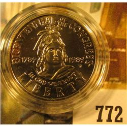 1989-D Congress Commemorative Half Dollar, BU, value $10