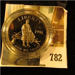 1995-S Civil War Battlefield Commemorative Half Dollar, PROOF, value $30
