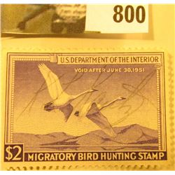 RW17 1950 U.S. Migratory Waterfowl Stamp, Signed.