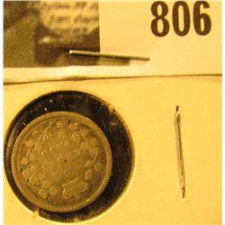 1896 Canada Five Cent Silver, Fine.