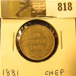 1881 Newfoundland 20c Piece, Ch. EF.
