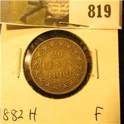 1882H Newfoundland 20c Piece, Fine.