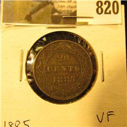 1885 Newfoundland 20c Piece, VF.