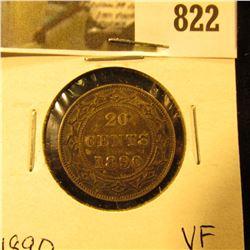 1890 Newfoundland 20c Piece, VF.