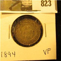 1894 Newfoundland 20c Piece, VF.