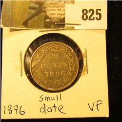 1896 Newfoundland 20c Piece, VF, Small Date Variety.