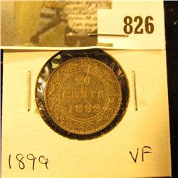 1899 Newfoundland 20c Piece, VF.